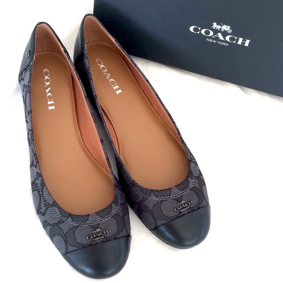 027d06d425ba ... norway coach chelsea signature leather ballet flat black 7b9db 06232